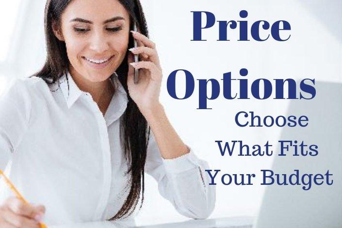 Price option banner