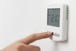 thermostat at 21